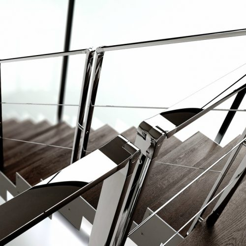 Stainless steel Railing Jamar J7, Stainless steel Railing polished Jamar J7P, Stainless steel railing brushed jamar J7B, Steel Railing Jamar J7S,