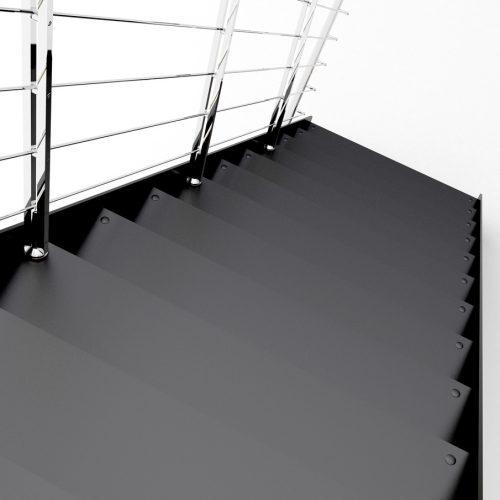 steel staircase steel steps steel structure stainless steel railing.