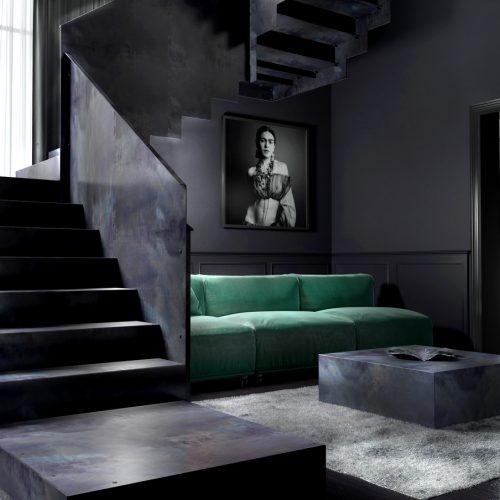 Steel Staircase, Steel Railing