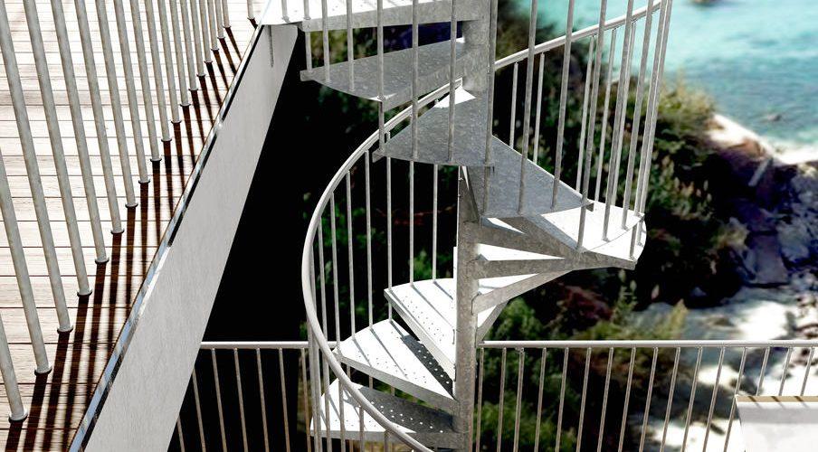 Galvanized Spiral Staircase