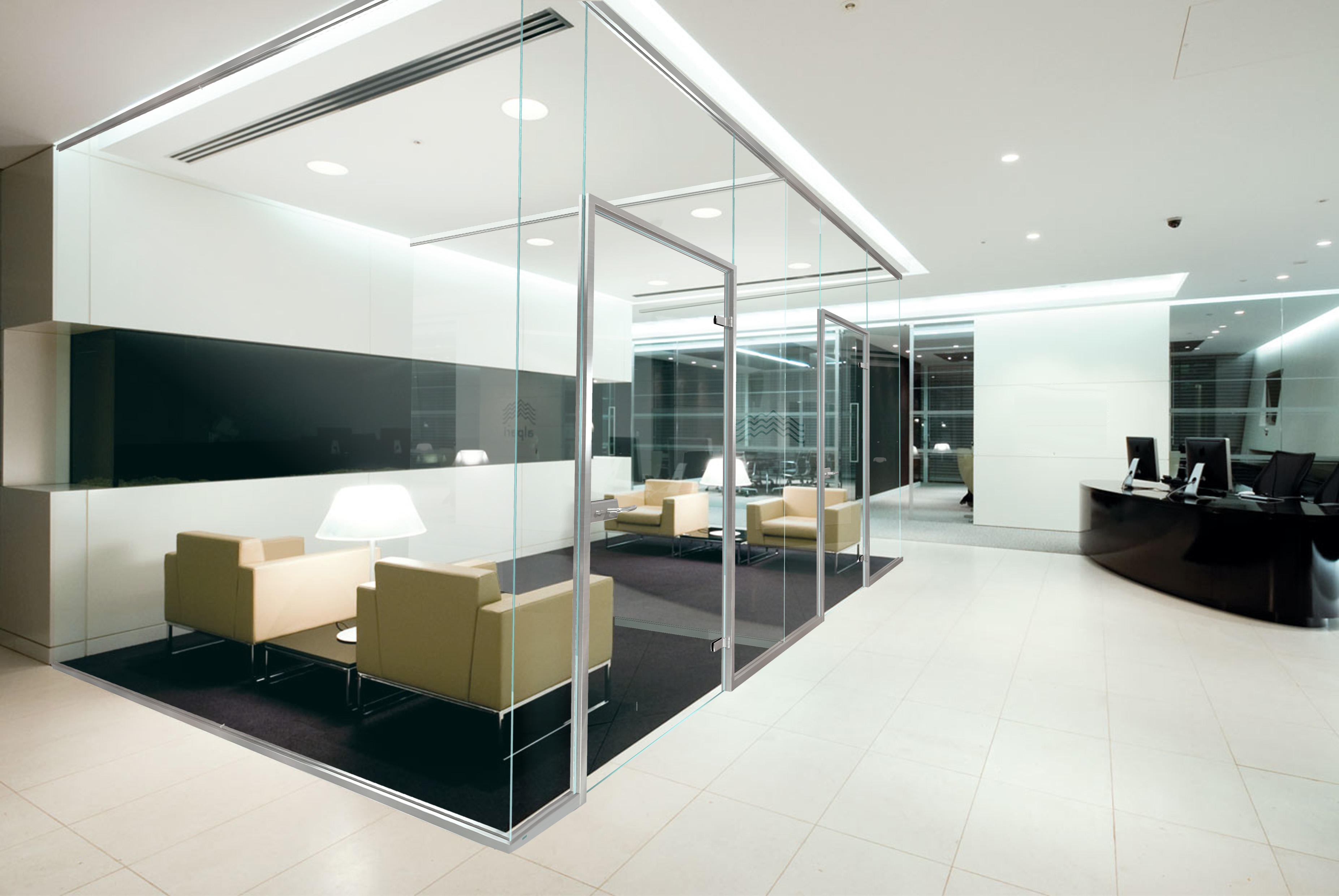 Office Glass Partition Interior Design