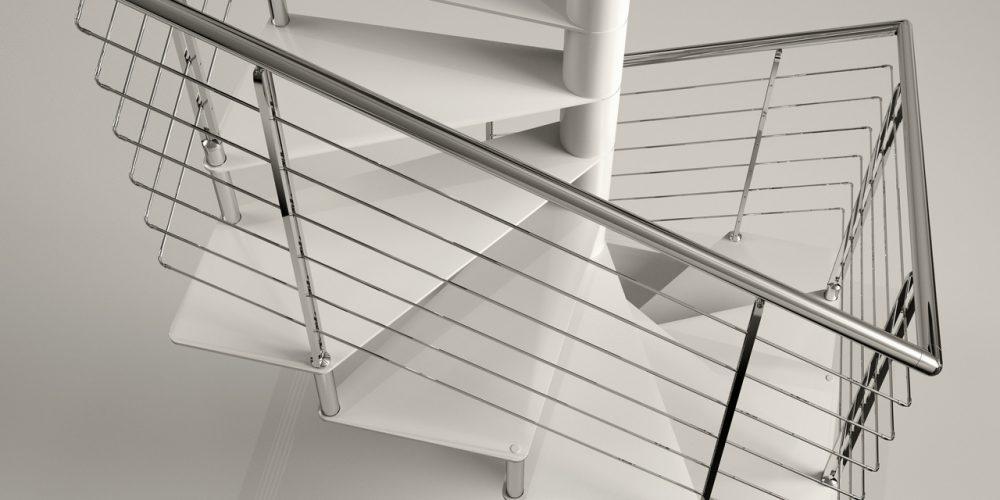 Steel Spiral Staircase Jamar Voluted Q-GL JR5 IL