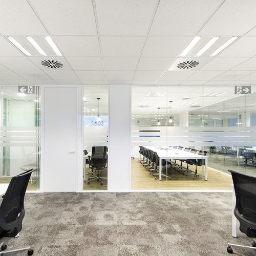 Jamar office glass partition
